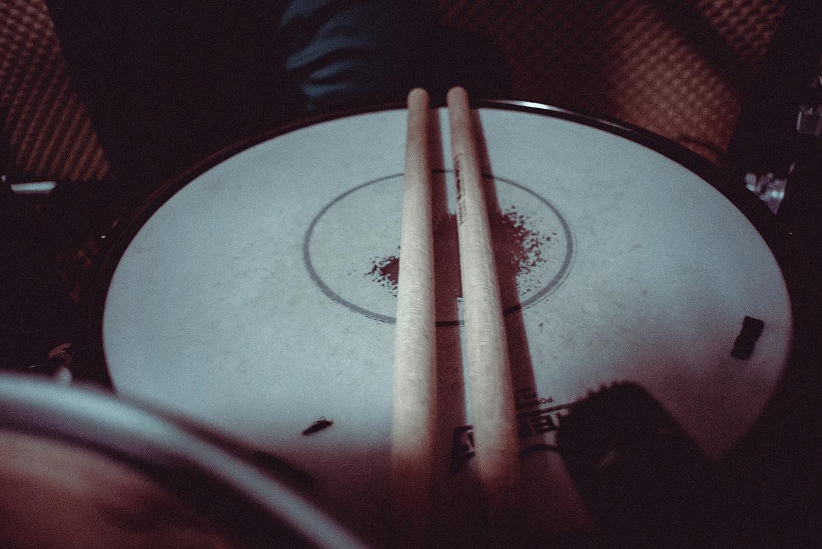 Schlagzeug Aufnahmen für die Vorproduktion