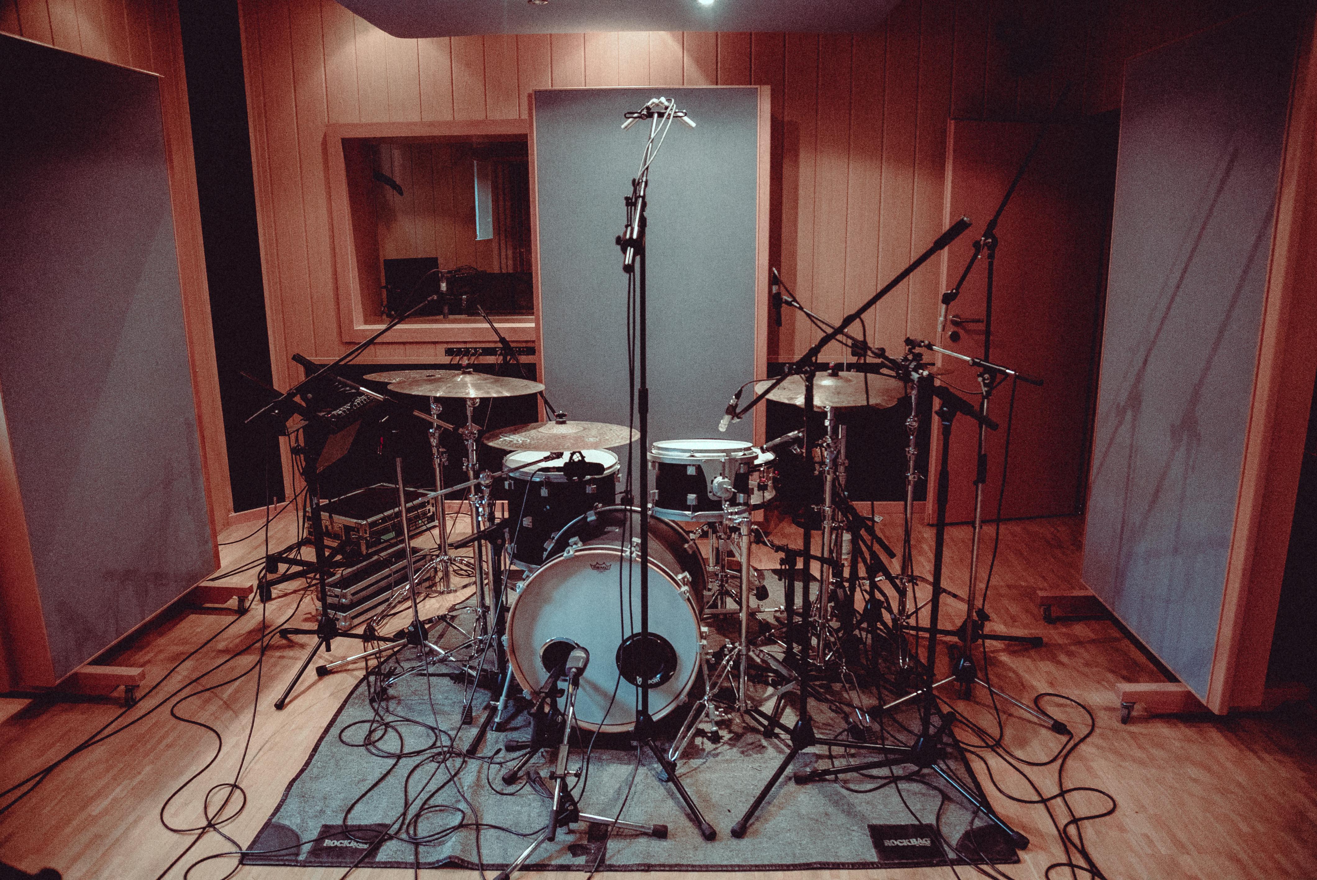 Studio – Schlagzeugaufnahmen